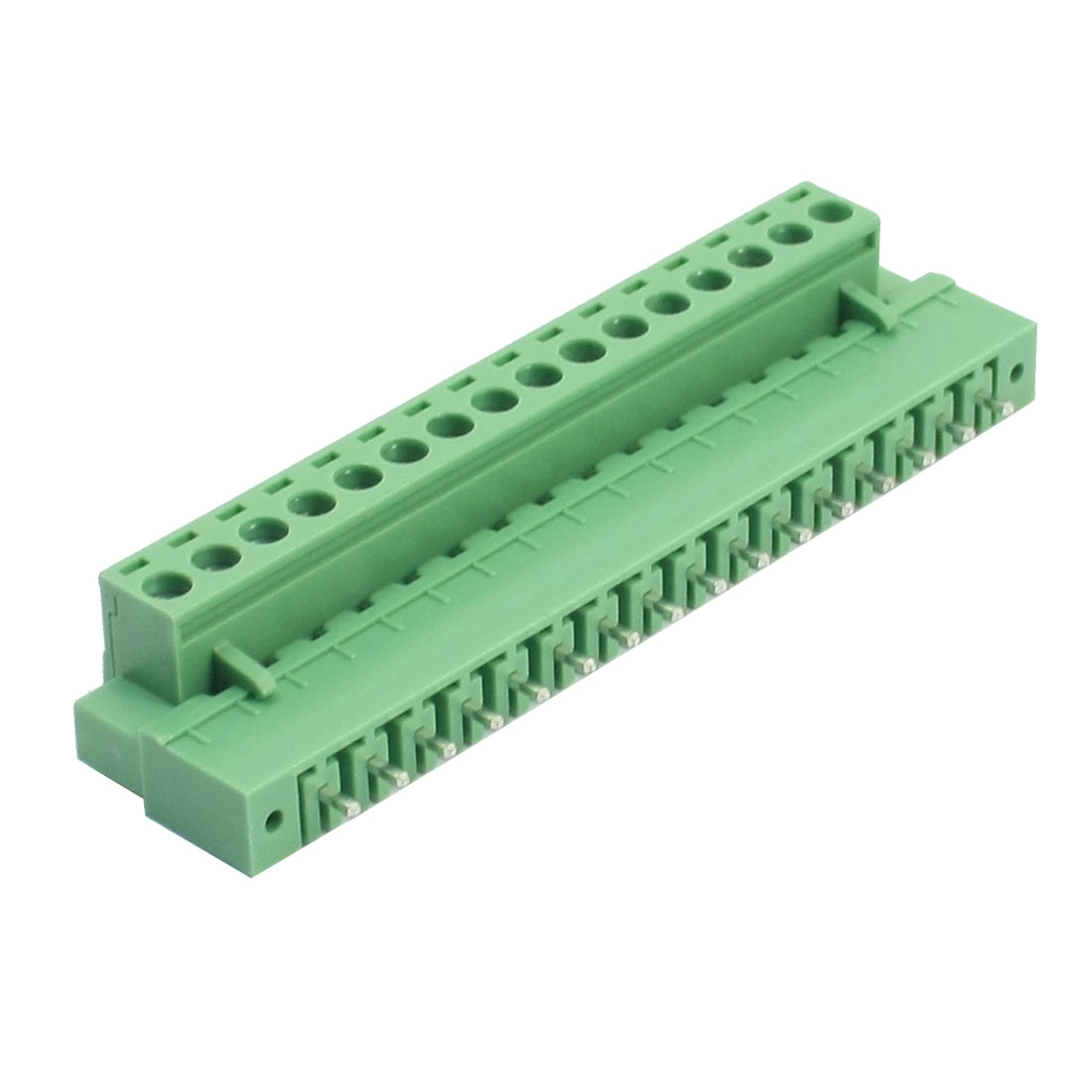 300V 10A 5.08mm Pitch 12-24AWG 16P Pluggable Type Right Angled PCB Surface Mounting Terminal Block Connector