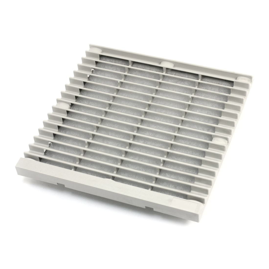 204mm x 204mm Square Gray Plastic Dustproof Mesh Sponge Foam Cabinet Axial Flow Fan Dust Air Filter