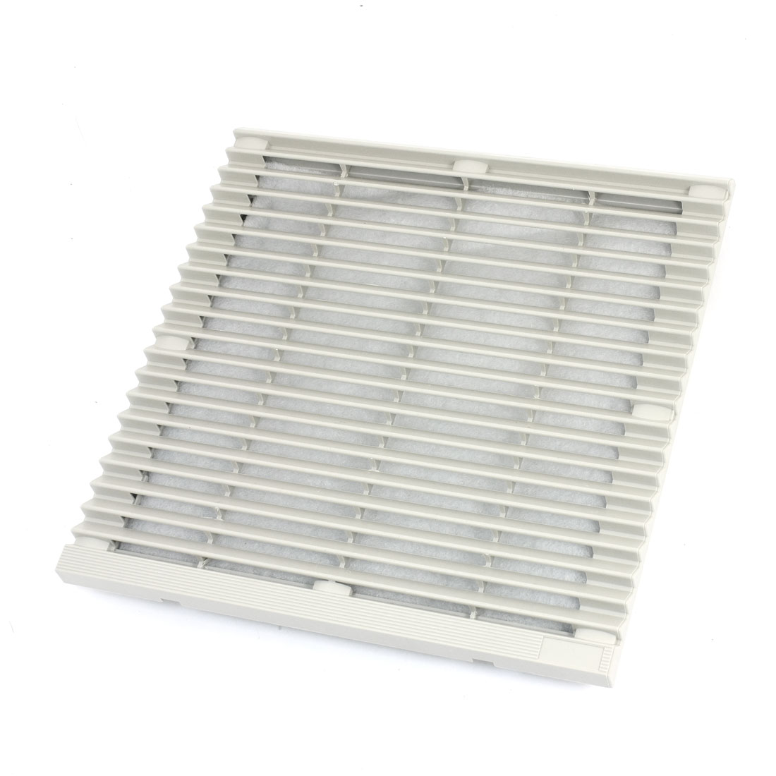 255mm x 255mm Square Gray Plastic Dustproof Mesh Sponge Foam Cabinet Axial Flow Fan Dust Air Filter