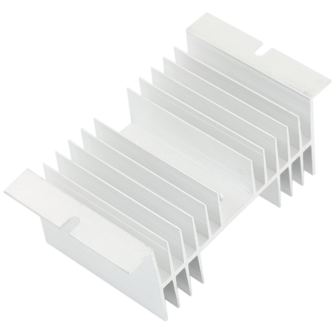 Aluminum Single Phase Solid State Relay Heat Diffuse Heatsink Cooling Fin 130mmx70mmx50mm