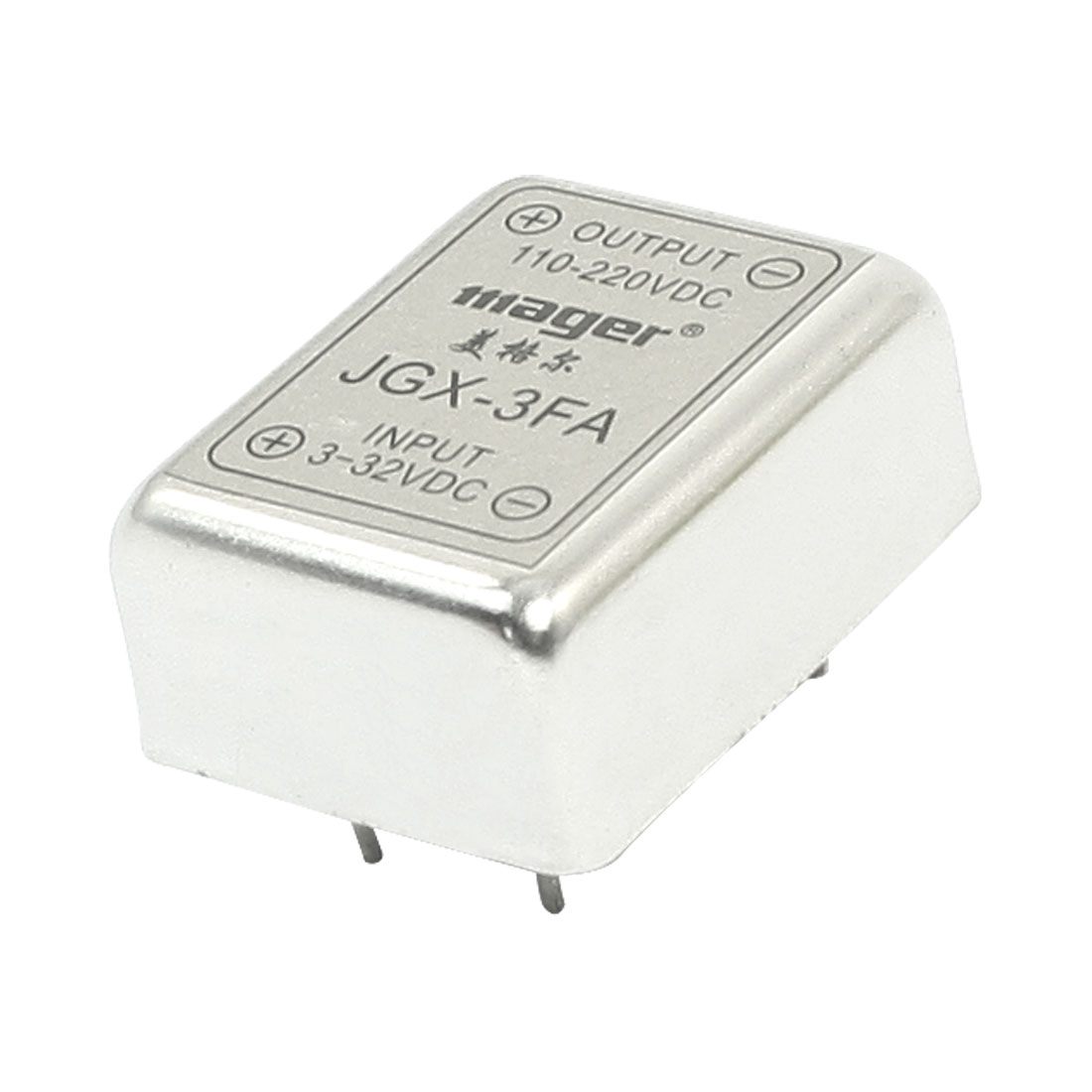 DC-DC 3-32V 110-220V 3A 4Pin PCB Through Hole Mounting Metal Single Phase SSR Solid State Relay
