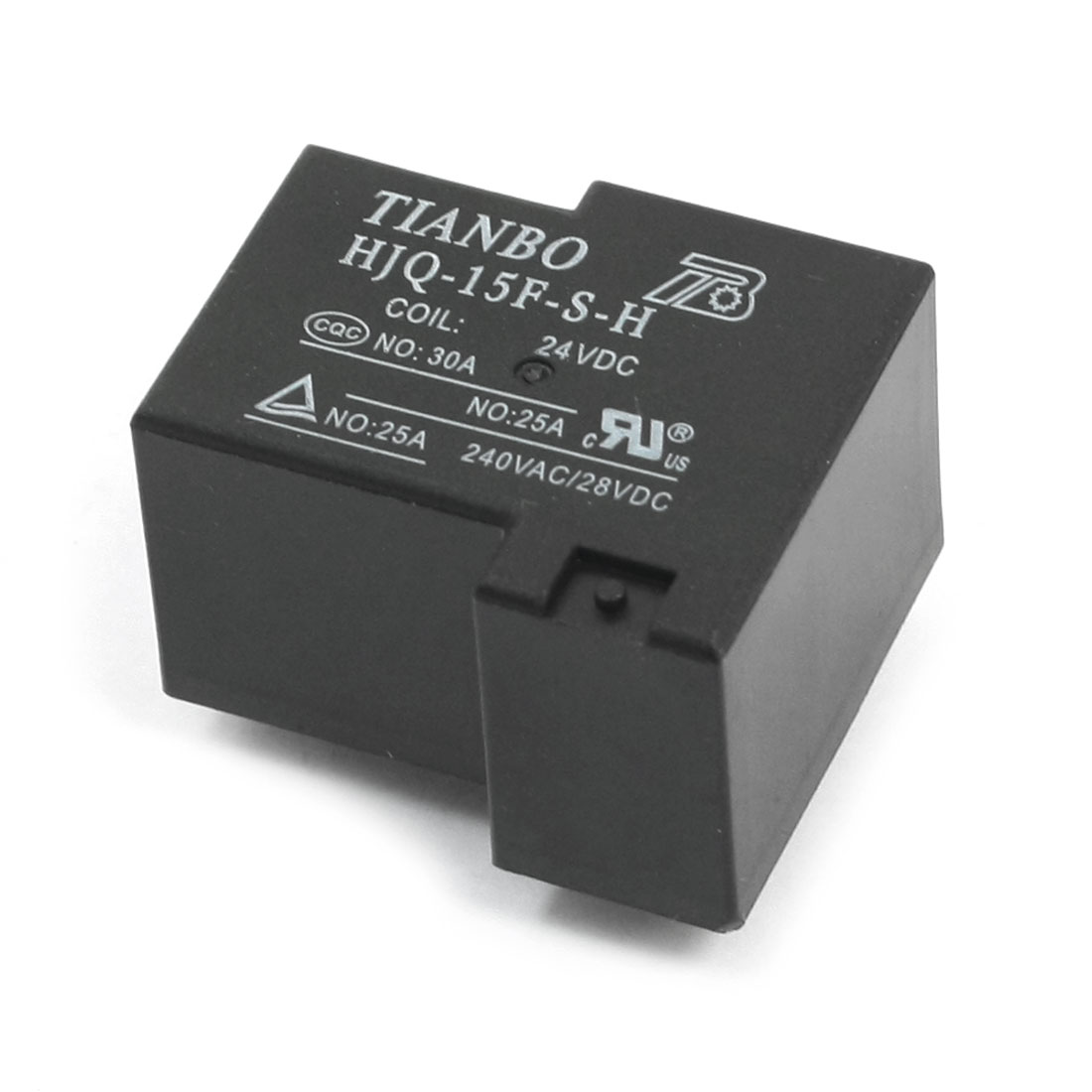 HJQ-15F-S-H-24VDC DC 24V 5-Pin SPDT 1NO 1NC Plug in Type PCB Surface Mounting General Purpose Coil Power Relay