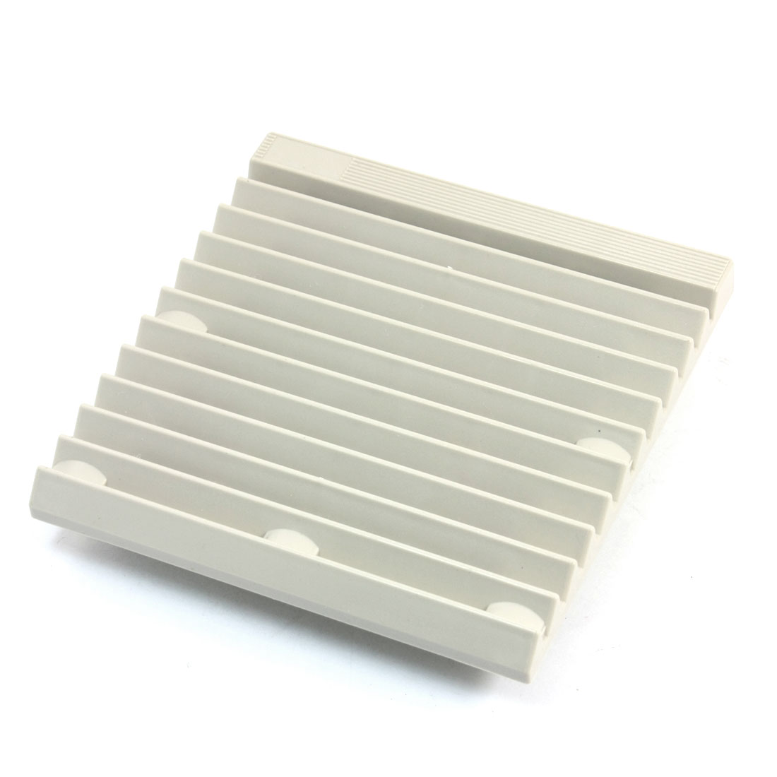 148.5mm x 148.5mm Square Gray Plastic Dustproof Mesh Sponge Foam Cabinet Axial Flow Fan Dust Air Filter
