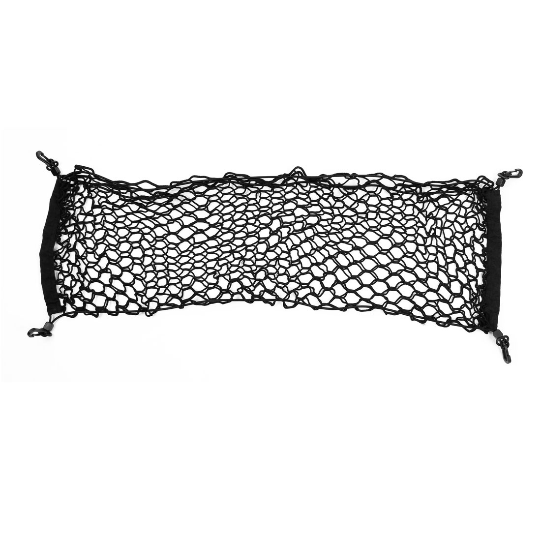 Luggage Storage Dual Layer Mesh Elasticated Car Cargo Net w Lobster Clasp