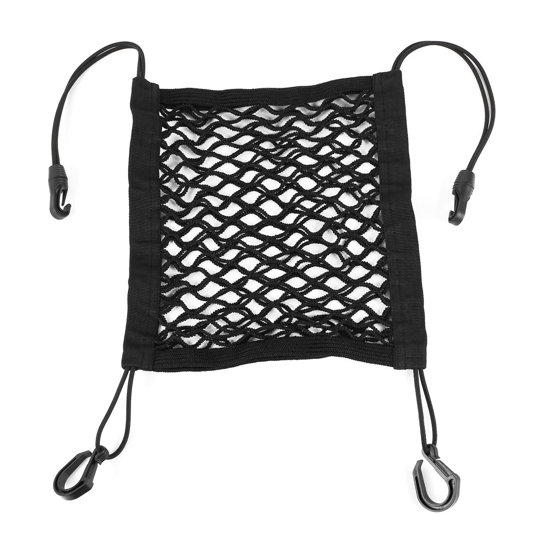 Luggage Storage Elastic Car Mesh Bag Cargo Net Holder w Hooks
