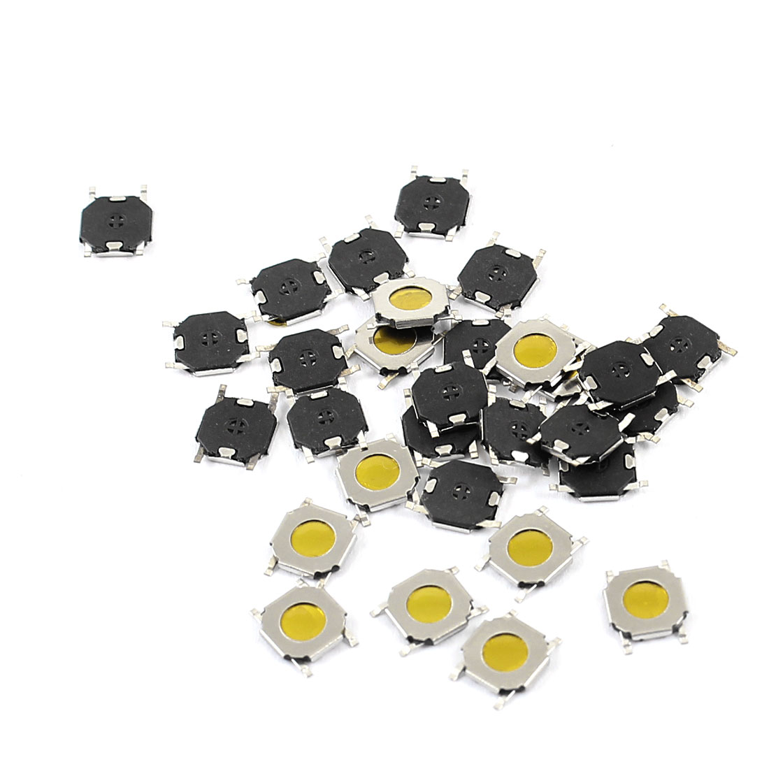 30pcs Panel PCB SMD Momentary 4-Pin SPST Tactile Tact Switch 4mmx4mmx1.0mm
