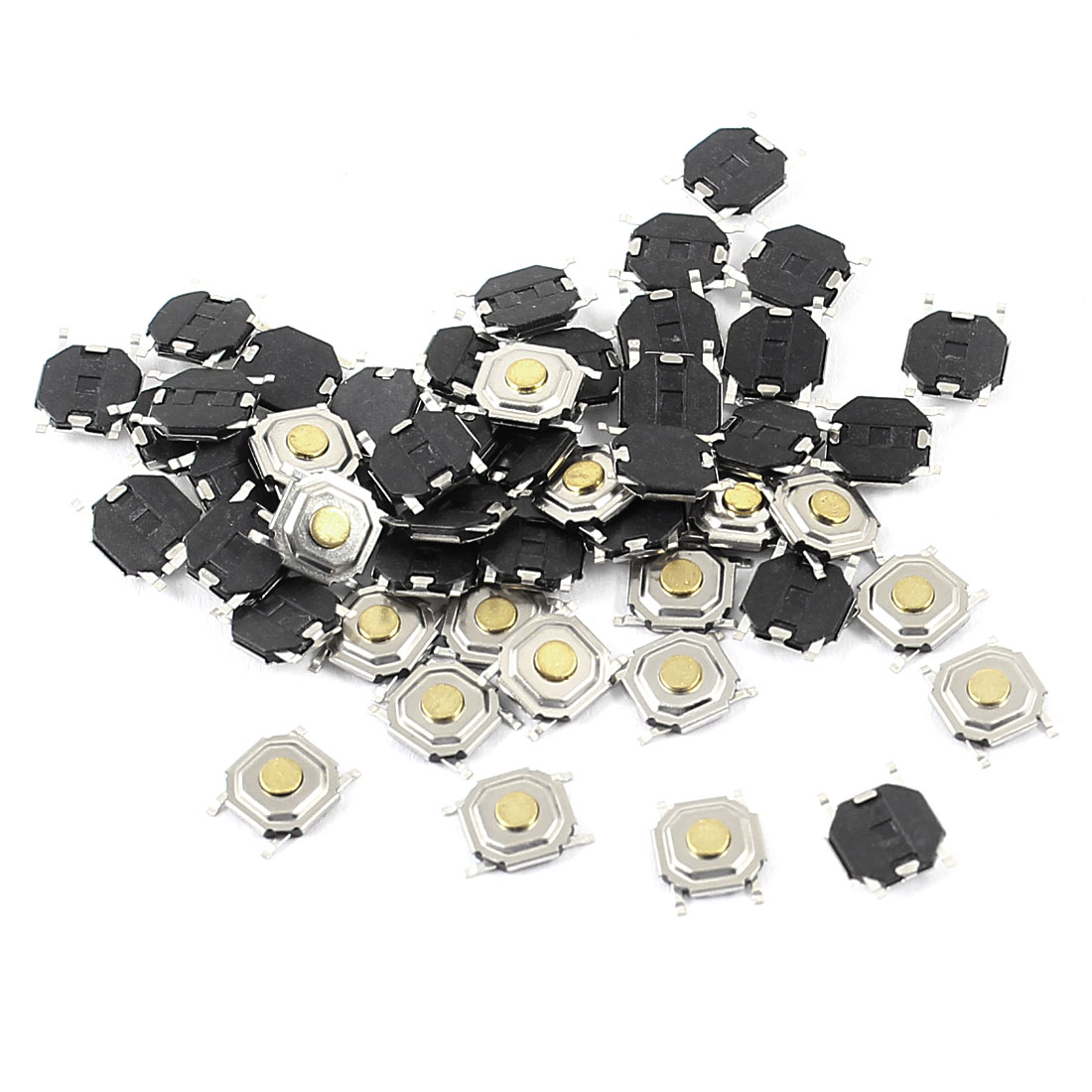50pcs Momentary Round Push Button SPST Tactile Tact Switch 5mmx5mmx1.5mm