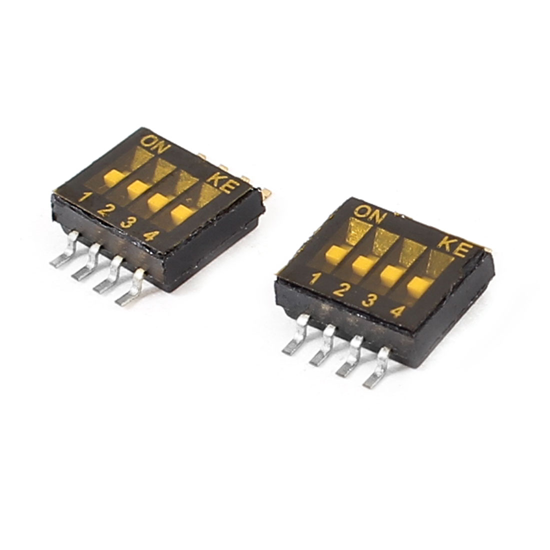 1.27mm Pitch 8Pin 4 Position Surface Mount SMT SMD DIP Switch 2 Pcs