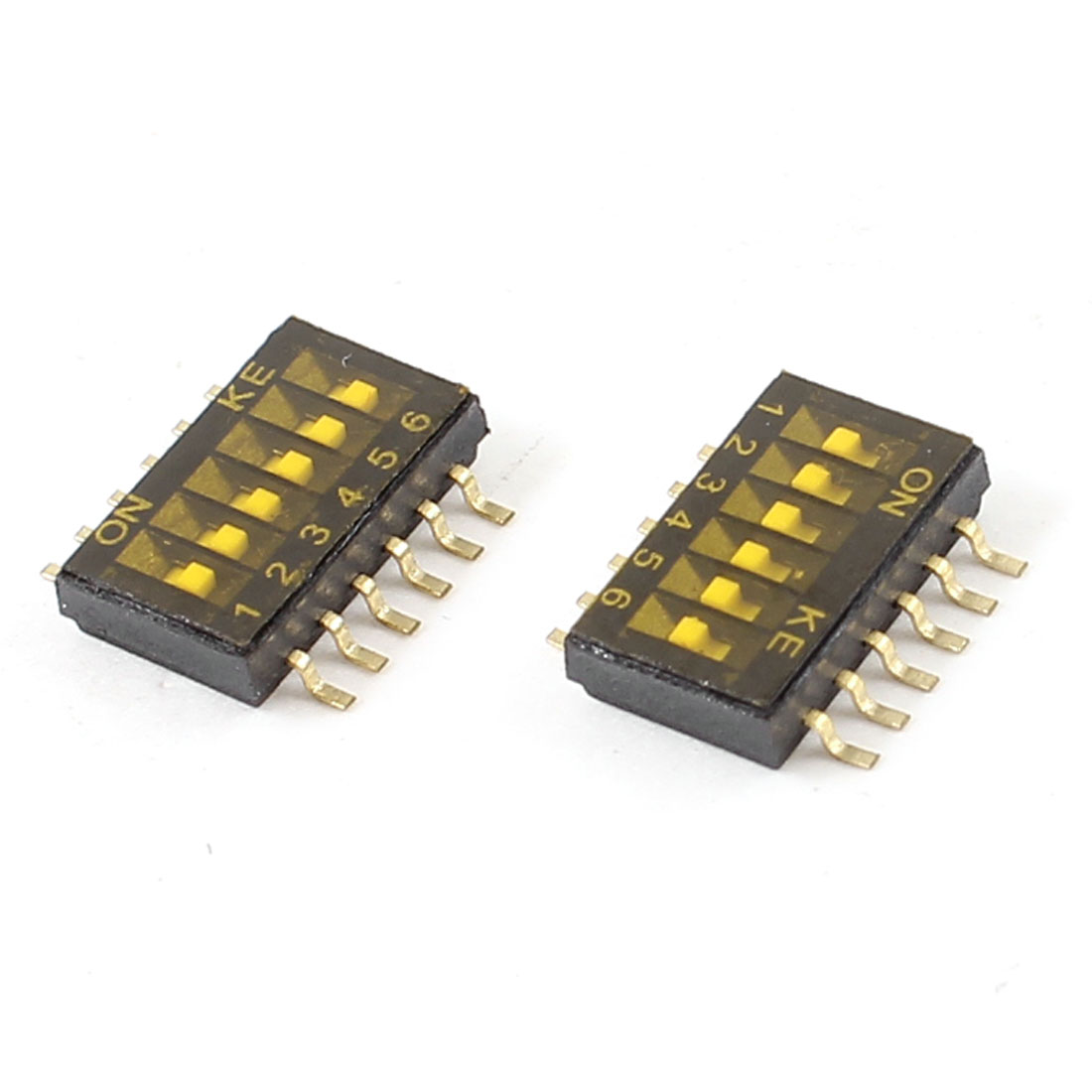 1.27mm Pitch 12Pin 6 Position Slide Type SMT SMD DIP Switch 2 Pieces