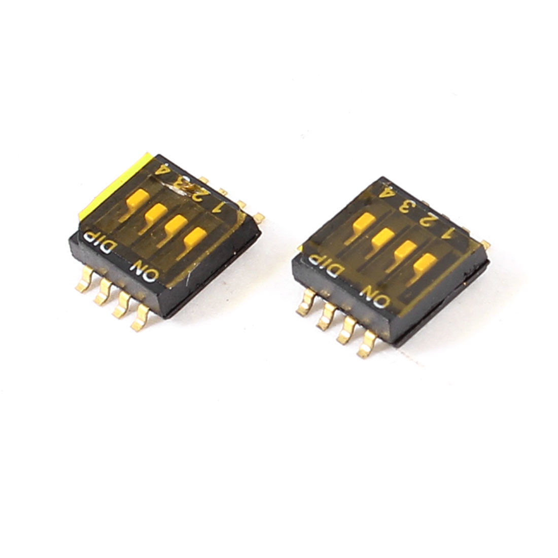 2pcs 8 Pins 4 Positions 1.27mm Half Pitch PCB SMT SMD DIP Switch