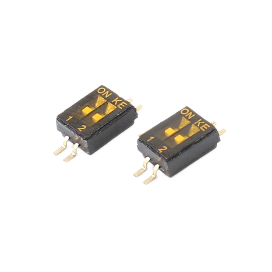 1.27mm Spacing 4Pin 2 Position Slide Type SMT SMD DIP Switch 2 Pieces