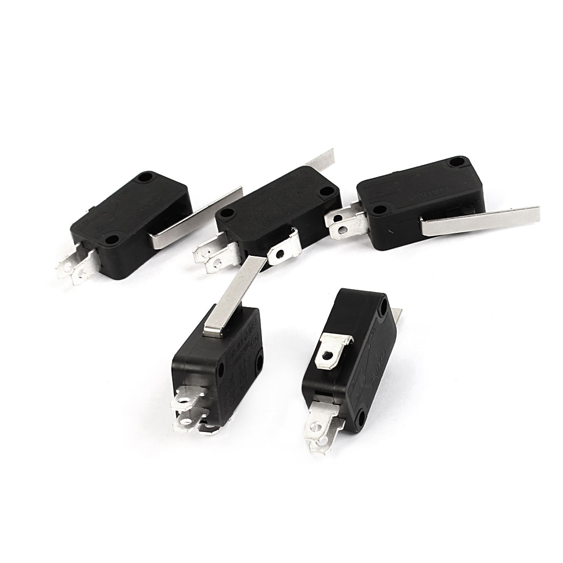5pcs SPDT 1NO 1NC 1 Com Long Hinge Lever Actuator Micro Switch