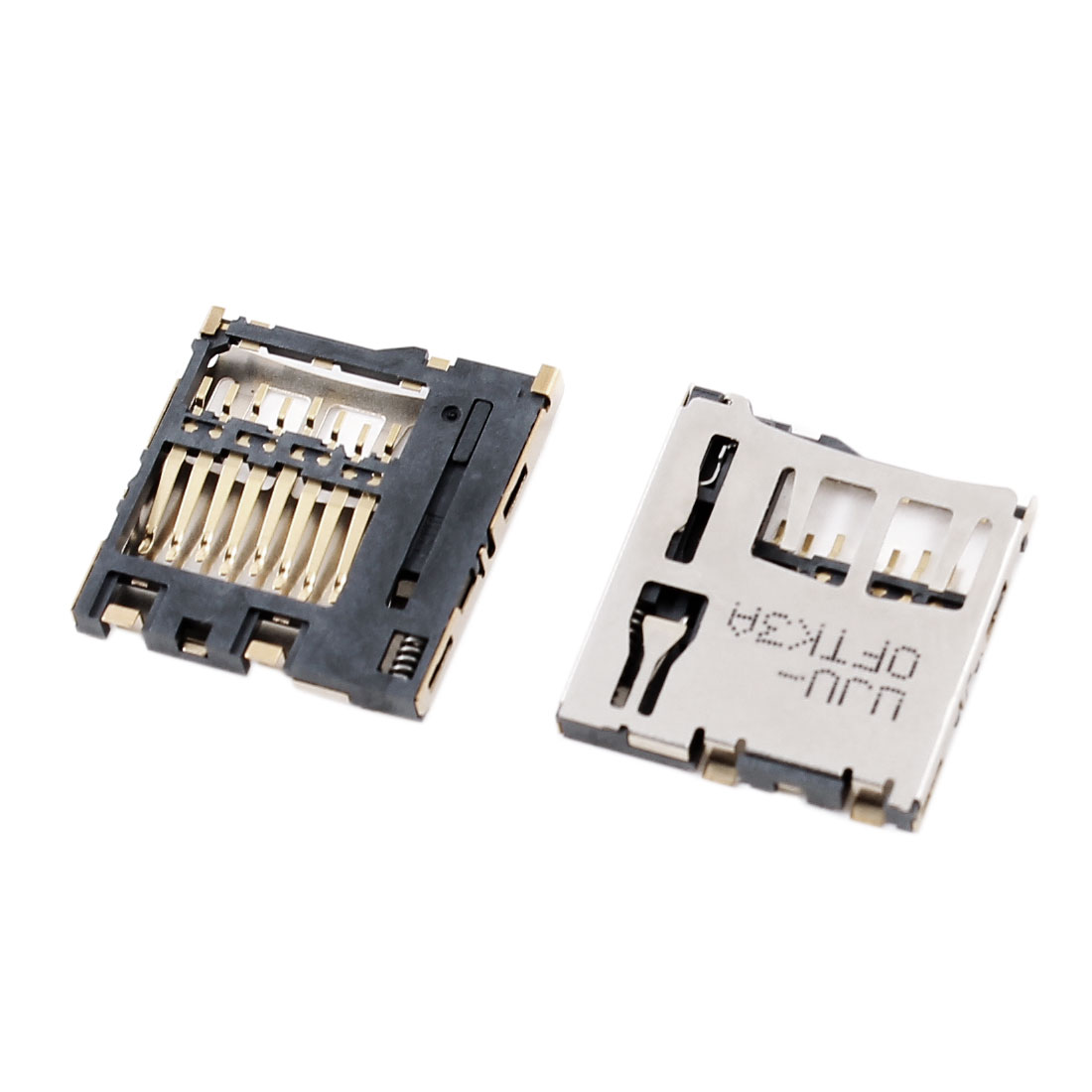 2pcs Push-in Push-out Type Micro SD Card Sockets Slots Holder
