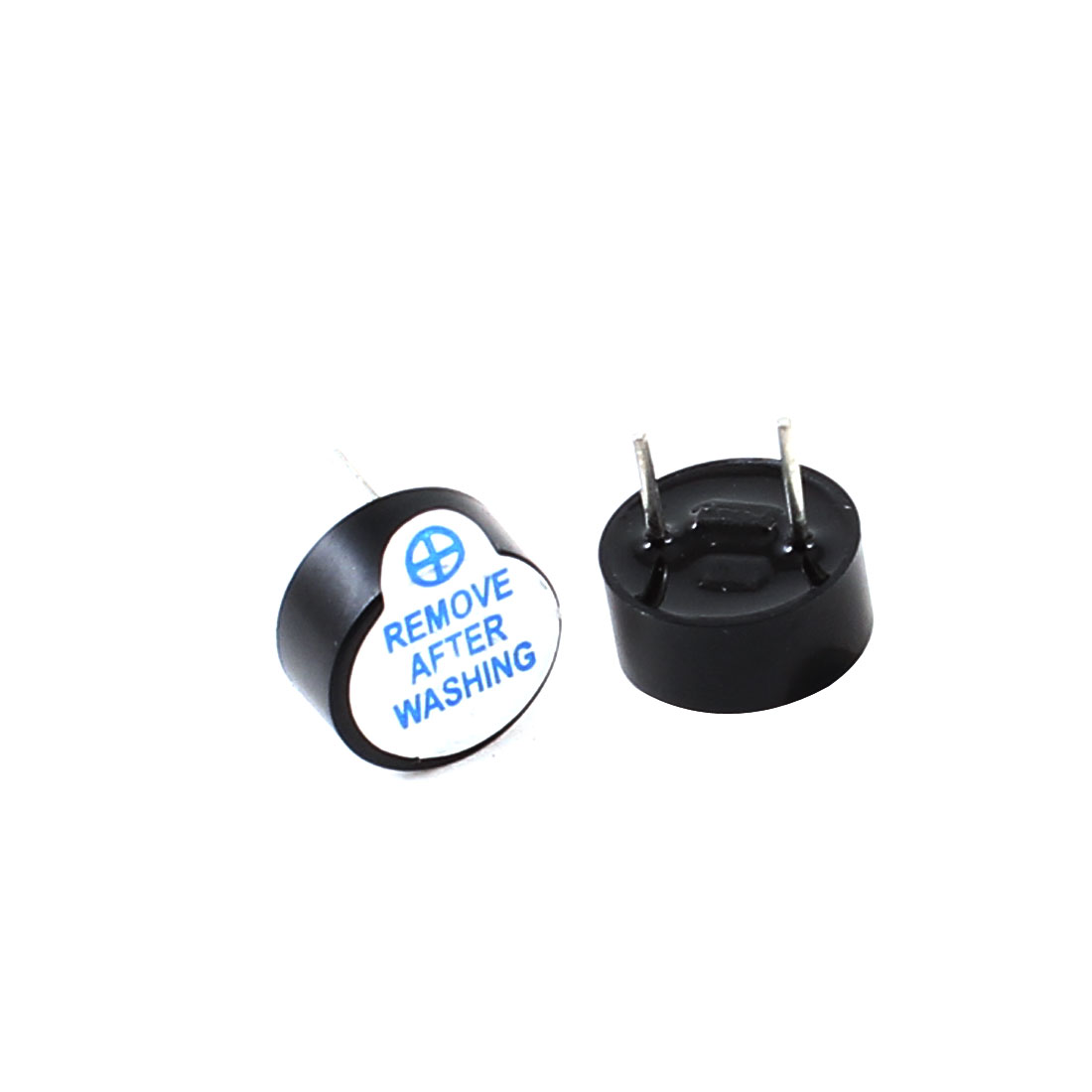 2 Pcs DC 5V 2Pins Cylinder Electronic Continuous Sound Buzzer 9mmx4.5mm