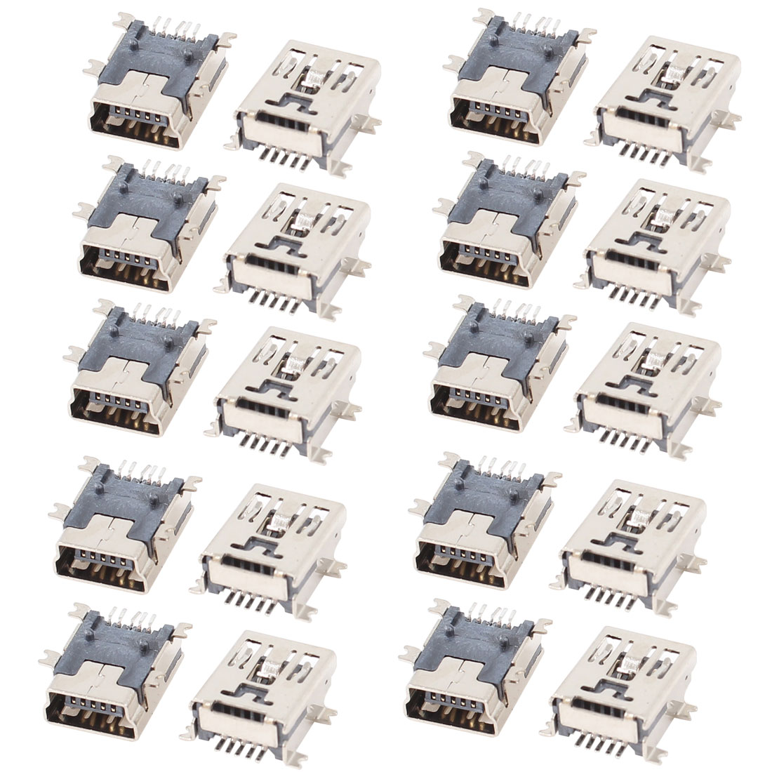 20pcs Mini USB 5P B Type Female Jack Socket SMD Connector