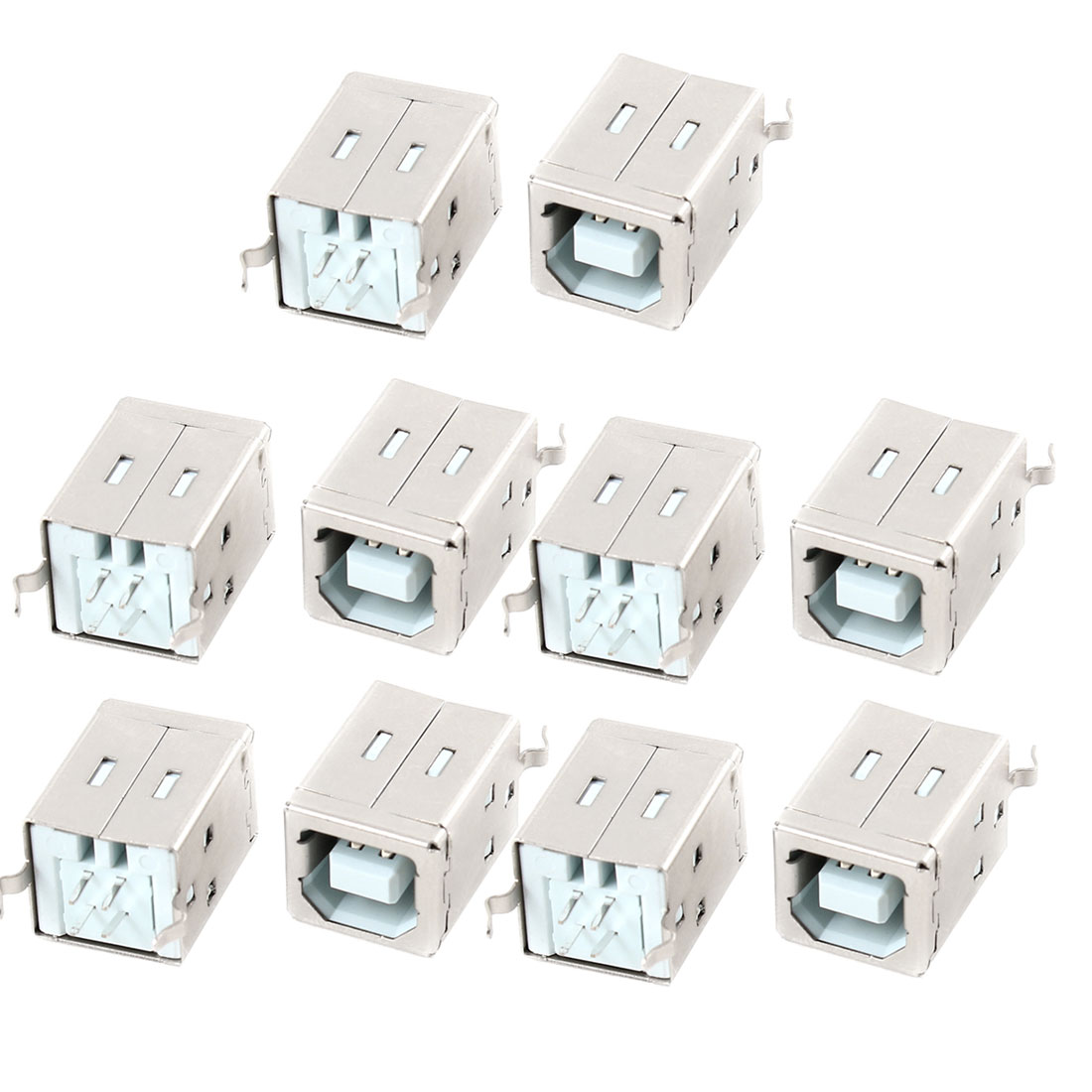 10pcs USB 2.0 Type B Socket PCB Jack 4 Pins 180 Degree Female Connector