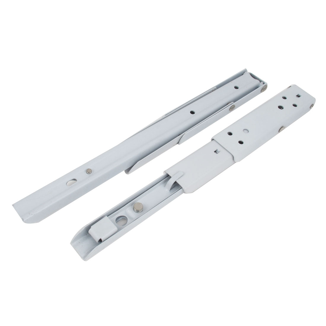 2pcs White Finish TV Mounts Counter Extensions 90 Degree Folding Triangle Brackets