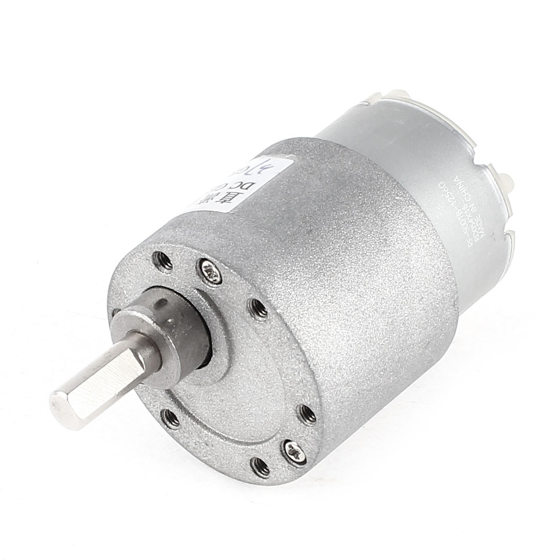 5RPM DC 6V High Torque Gear Box Electric Speed Reduce Motor Silver Tone