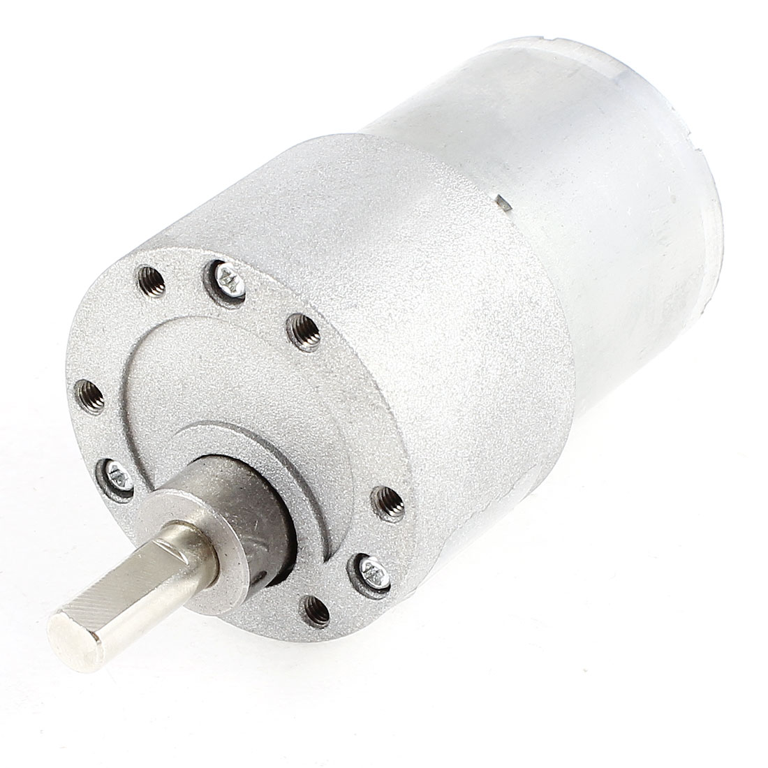 DC 12V 60RPM 6mm Diameter Shaft Cylinder Electric Geared Box Speed Reduce Motor