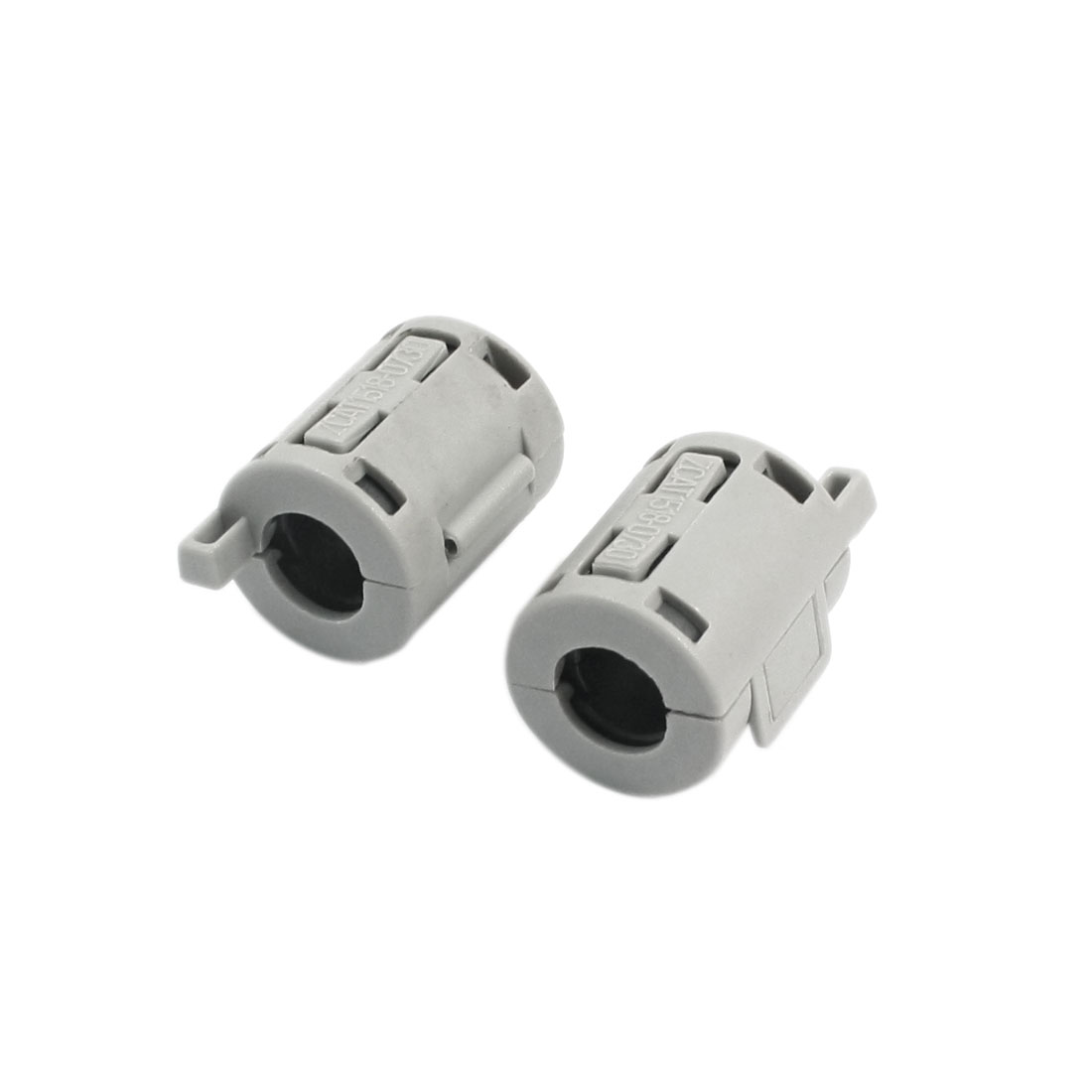 2Pcs 15mm x 18mm x 7mm Noise Suppressor Cylindrical Magnet Core Ferrite Ring Clip Clasp Gray for USB Data Cable