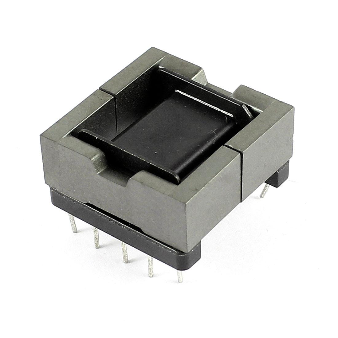 Plastic Iron Inductor 10 Pin Transformers Coil Former Robbin EPD25 Ferrite Core Bobbin Black