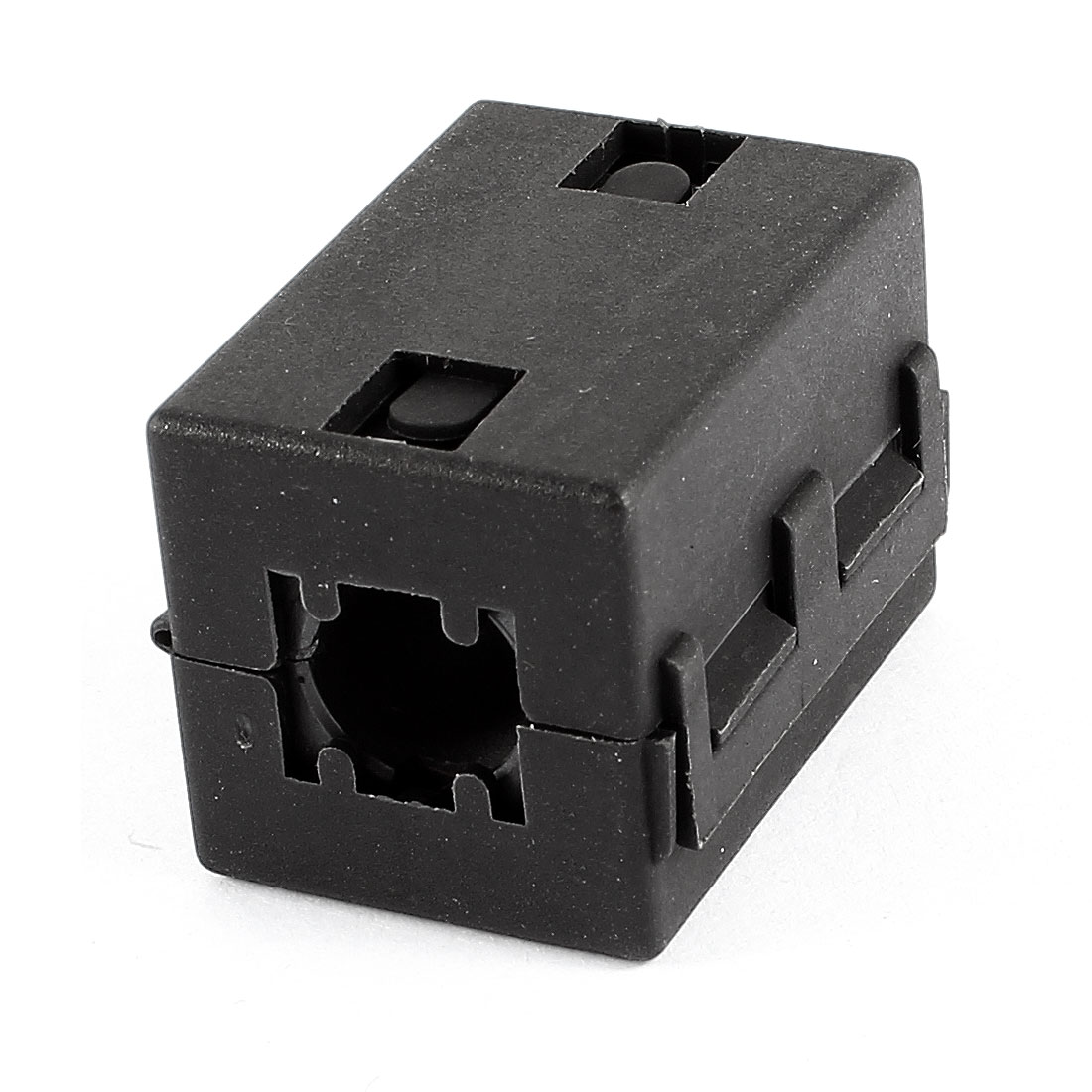 10mm Cable Hole Dia Clip On UF100B Ferrite Core Square Cable EMI Noise Suppressor Filter Black