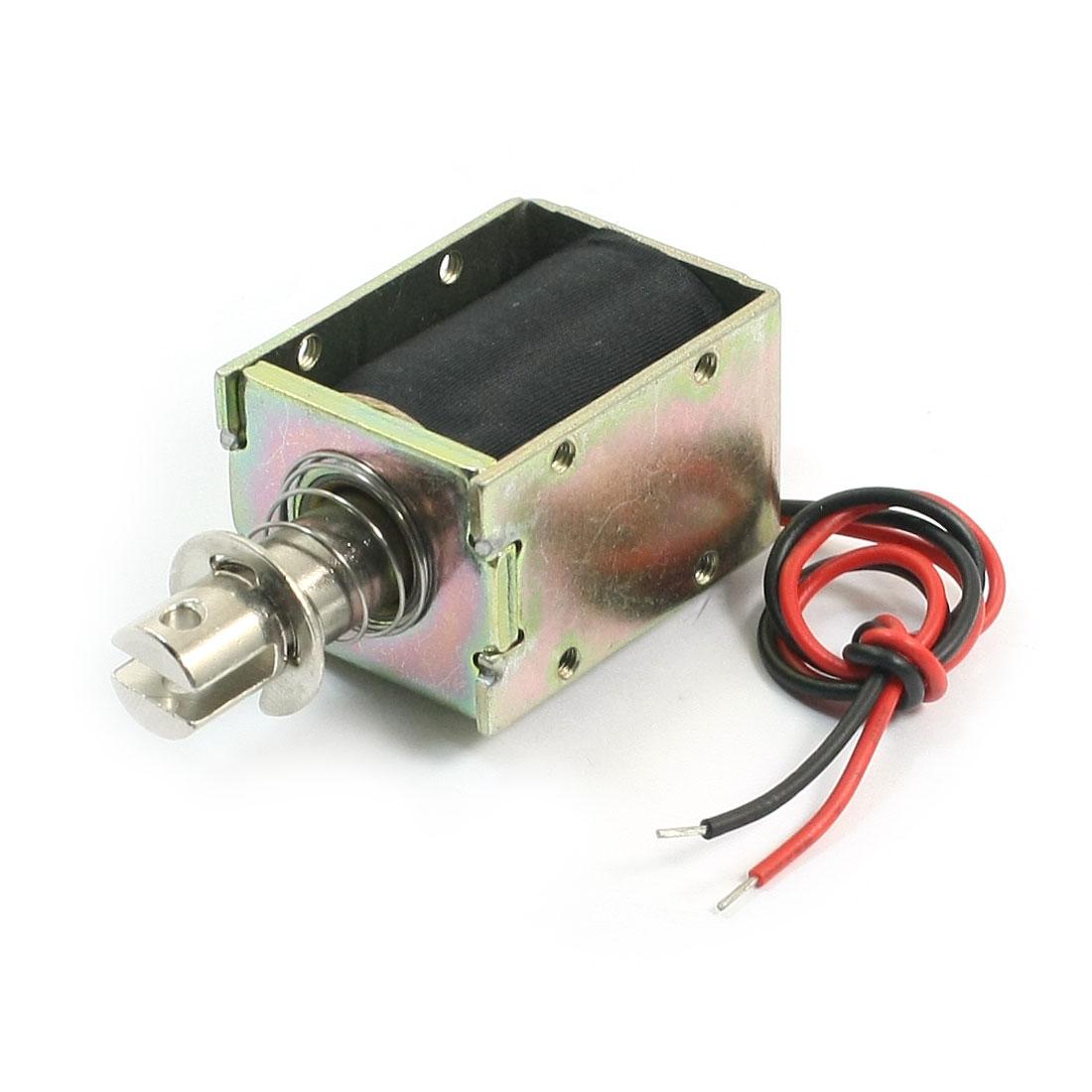 24V 96A 10mm Stroke 300gf Force Push Pull Type Open Frame Spring Plunger DC Solenoid Electromagnet