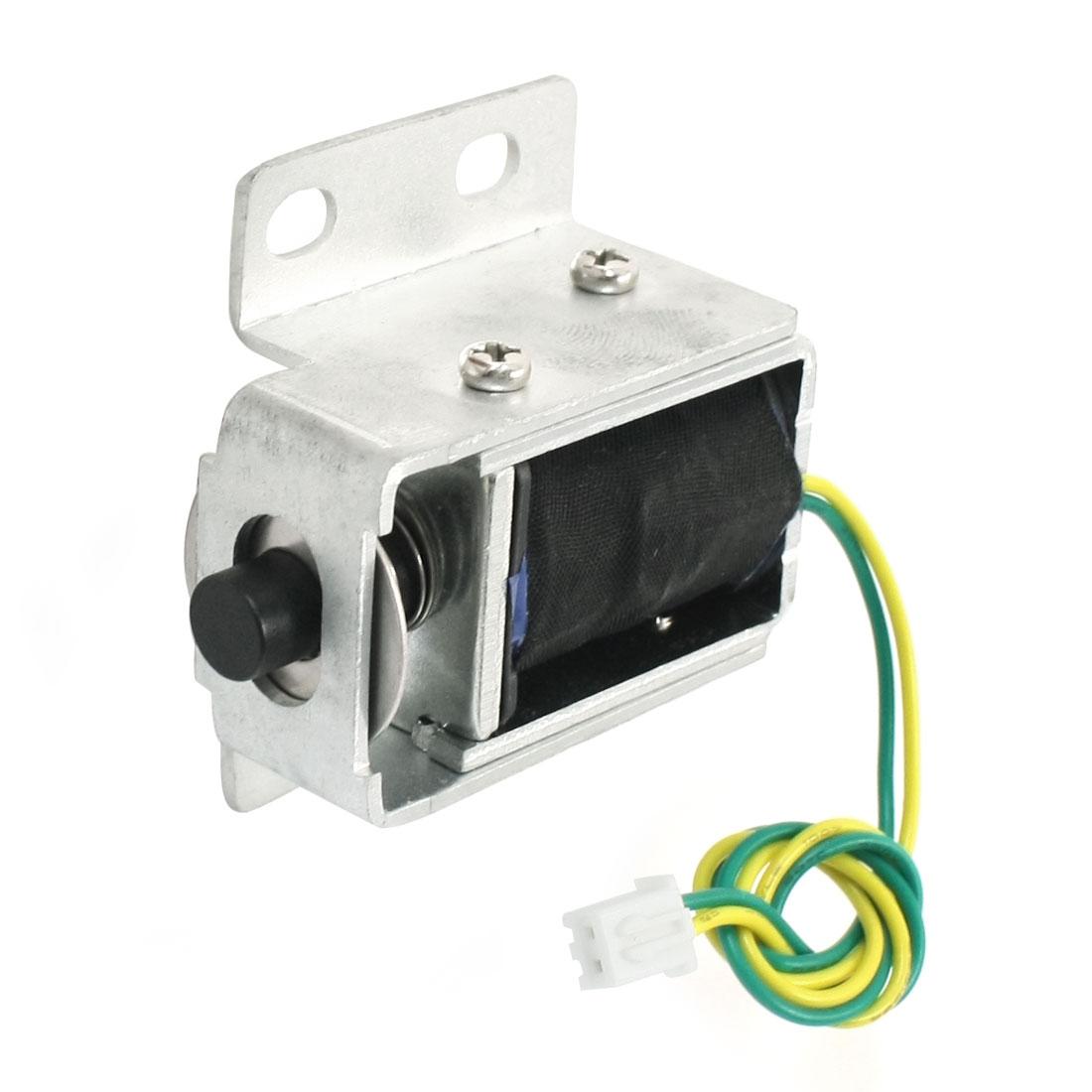 6V 0.3A 2mm 200g 4mm 100g Pull Type Opening Frame Spring Plunger Linear DC Solenoid Electromagnet