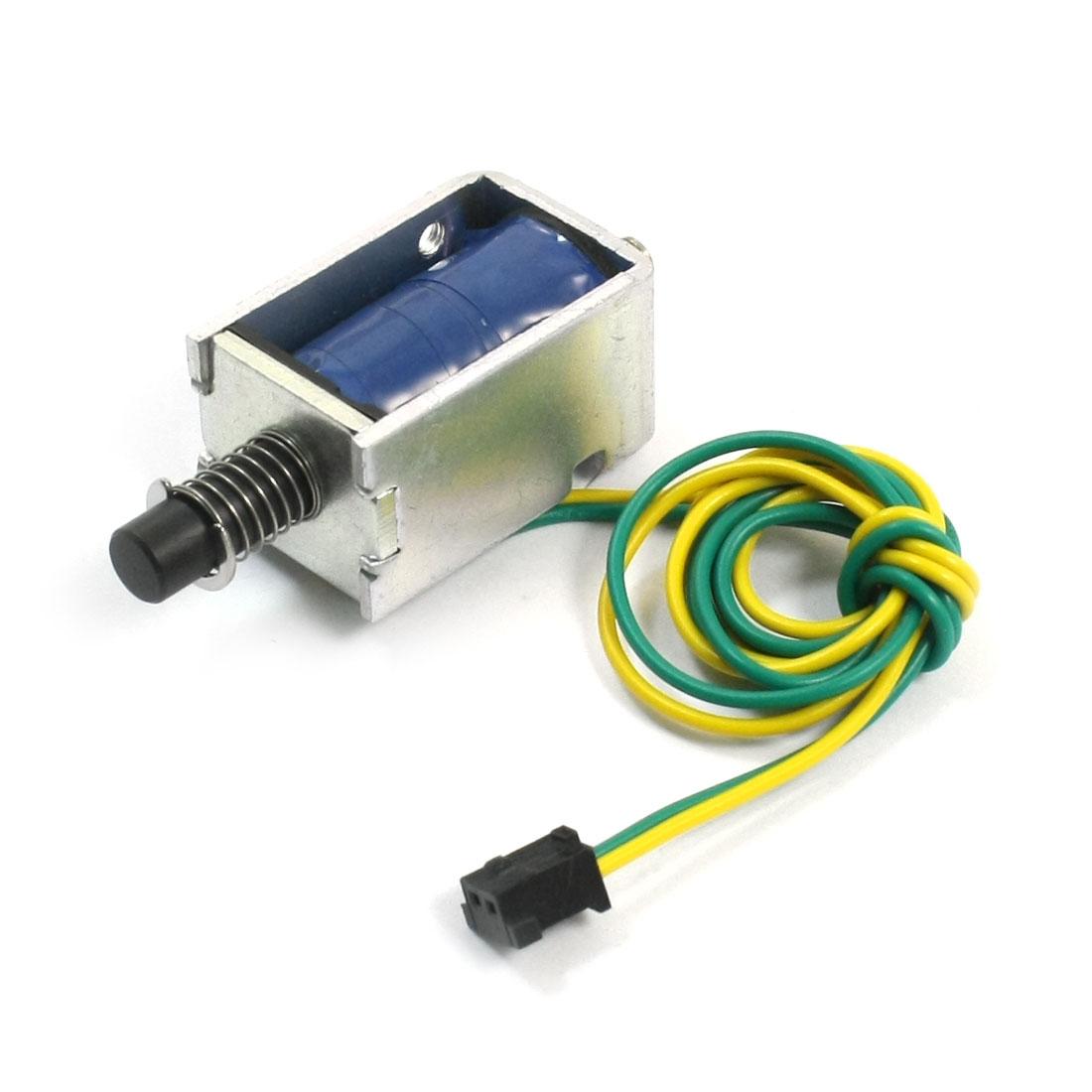 24V 1.33A 2mm 450g 5mm 250g Push Pull Type Action Open Frame Spring Plunger DC Solenoid Electromagnet