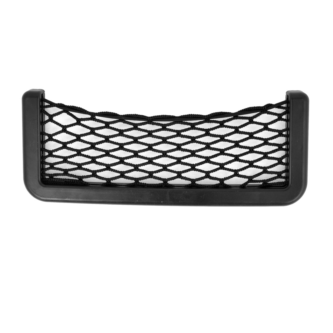 Elastic Nylon Net Design Phone Money Black String Mesh Bag Pocket for Auto Car