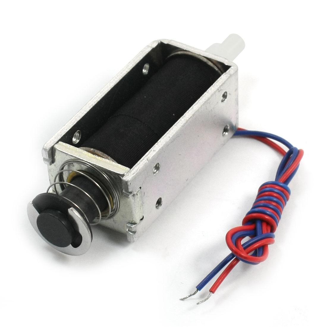 24V 0.34A 3mm 450g 5mm 400g Push Pull Type Open Frame Spring Plunger Linear Motion DC Solenoid Electromagnet