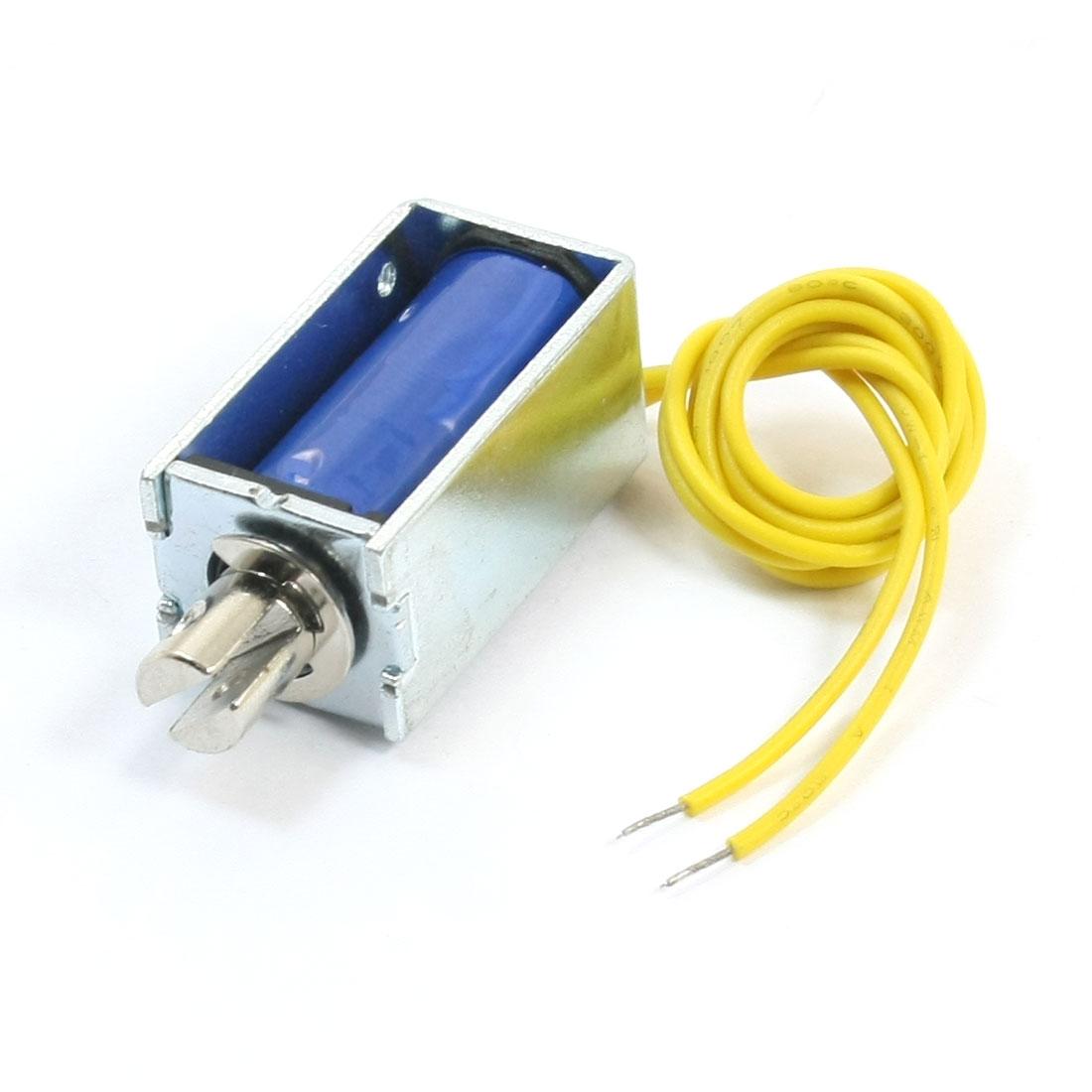 12V 0.46A 2mm 150g 5mm 50g Pull Type Action Open Frame Spring Plunger DC Solenoid Electromagnet