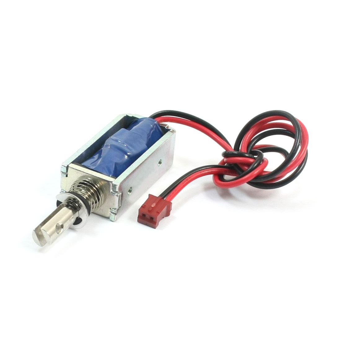 5V 1.11A 2mm 120g 5mm 25g Pull Type Open Frame Spring Plunger DC Solenoid Electromagnet
