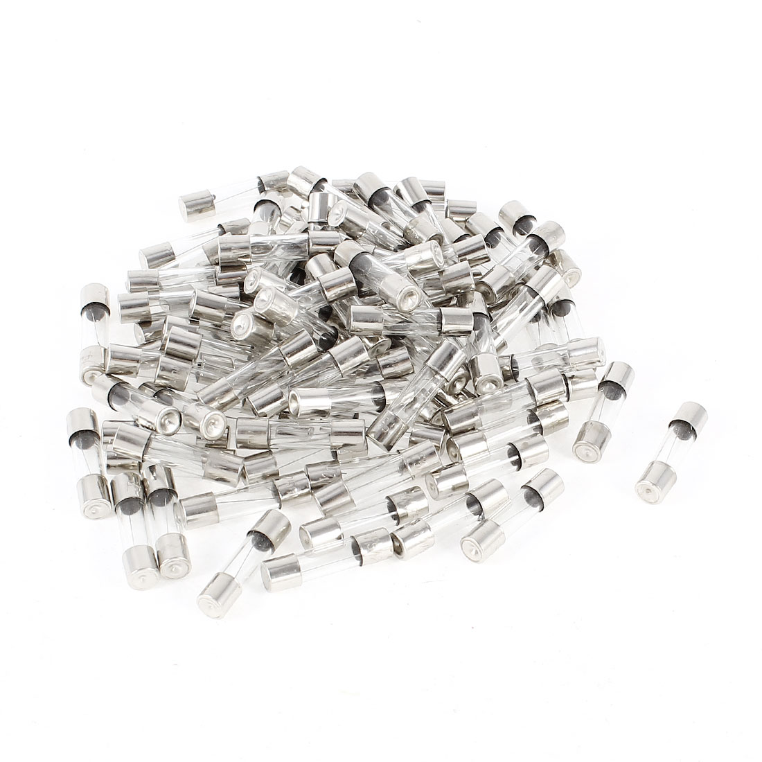 AC 250V 6Amp Fast Acting 5mmx20mm Glass Tube Fuses 100 Pcs