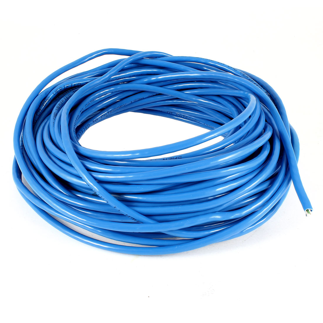 Round Cat5e Cable UTP Wire Ethernet LAN Network Cat5 Cord Blue 75Ft 23M
