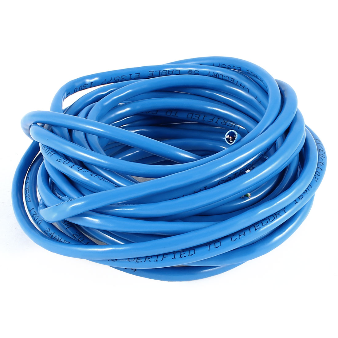 5mm Diameter UTP Wire Ethernet LAN Network Cat5 Cable Blue 23Ft 7M
