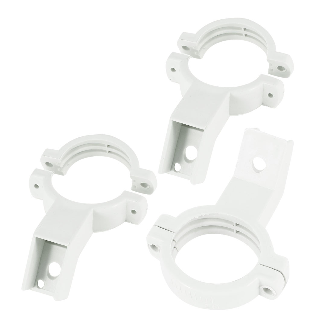 3 Pcs 40mm Plastic Single Dish LNB Bracket Holder Mount White for Ku Band