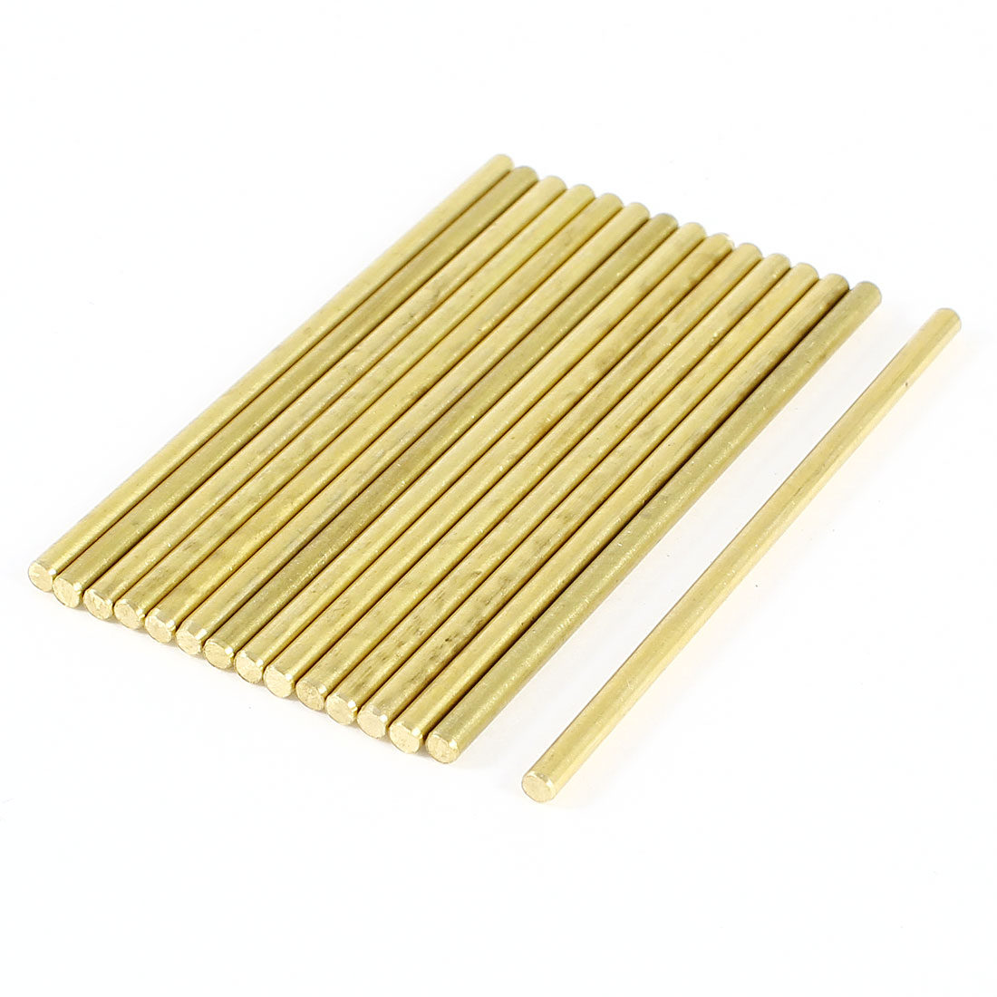 15 Pcs Car Helicopter Model Toy DIY Brass Axles Rod Bars 2mm x 50mm