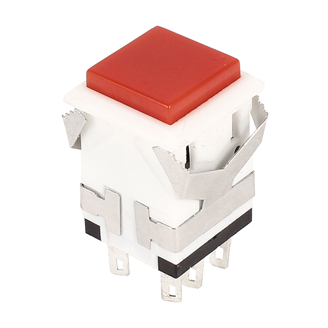 Red Spuare Push Button 6Pin DPDT Momentary Switch AC 250V/3A 125V/6A
