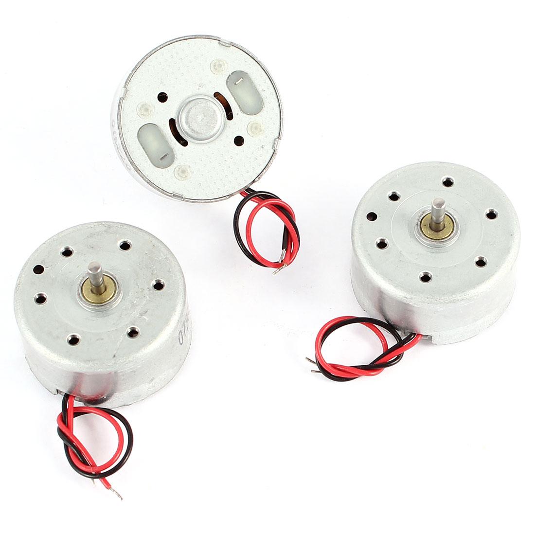 3 Pcs DC 1.5-3V 4500RPM Electric Mini Motor 12x25mm for CD DVD Player