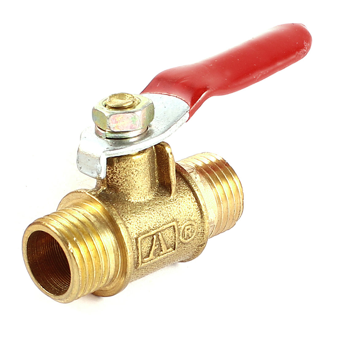 Brass 1/4PT Male Thread Connector Full Port Hand Lever Shut Off Ball Valve