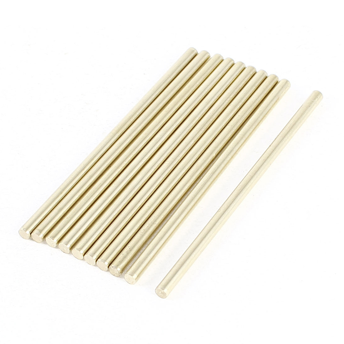 10 Pcs Car Helicopter Model Toy DIY Brass Axles Rod Bars 3mm x 70mm
