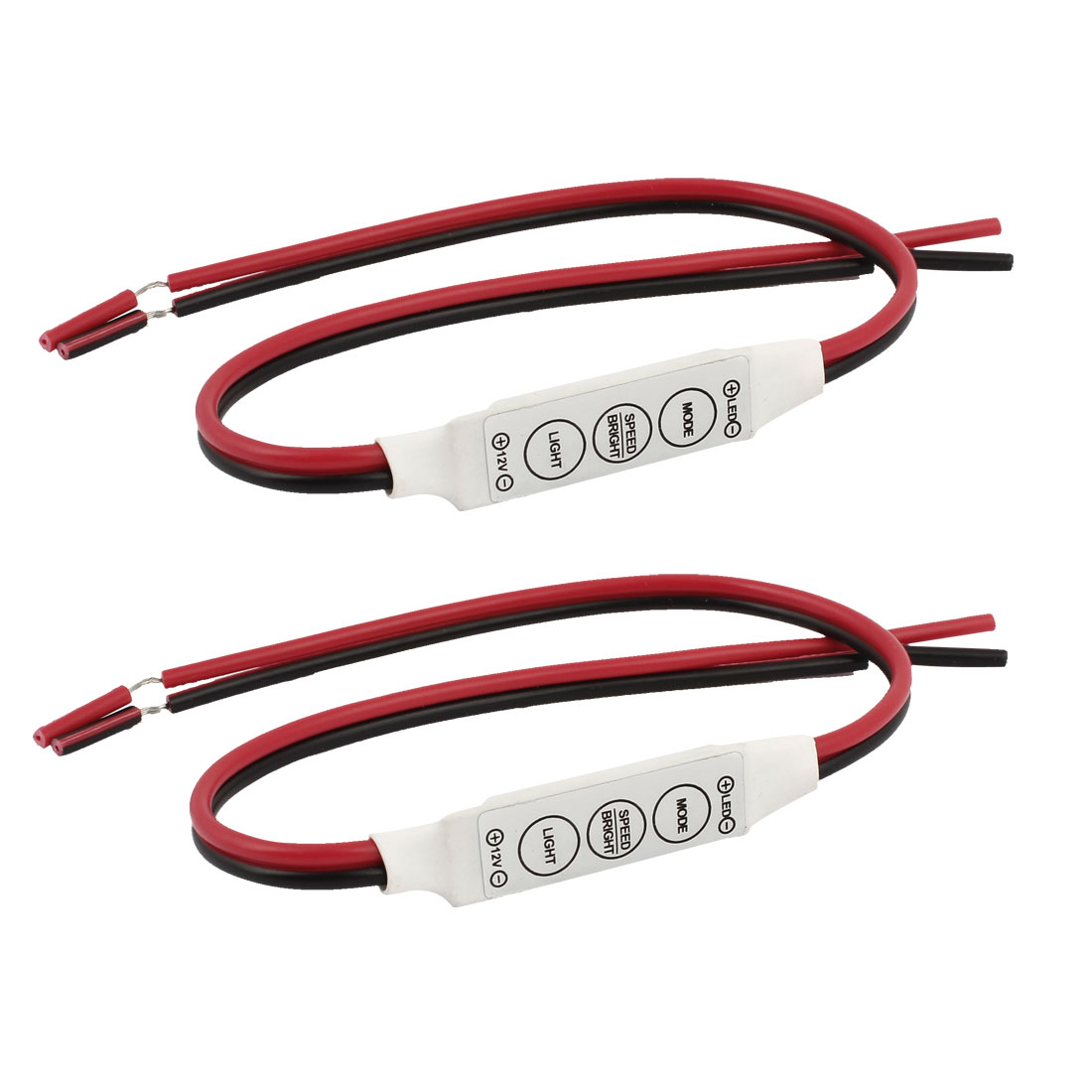 Dimmer Single LED Flexible Strip Light Signal Amplifier Controller 2pcs