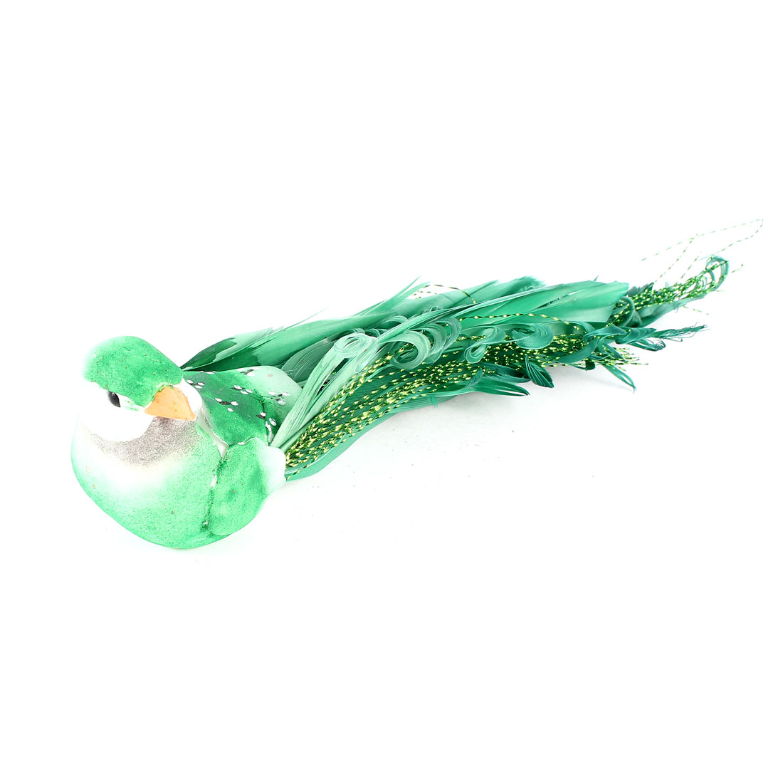 "Blink Thread Accent Magnetic Body Simulated Bird Desk Decor Green 5.5"" Long"