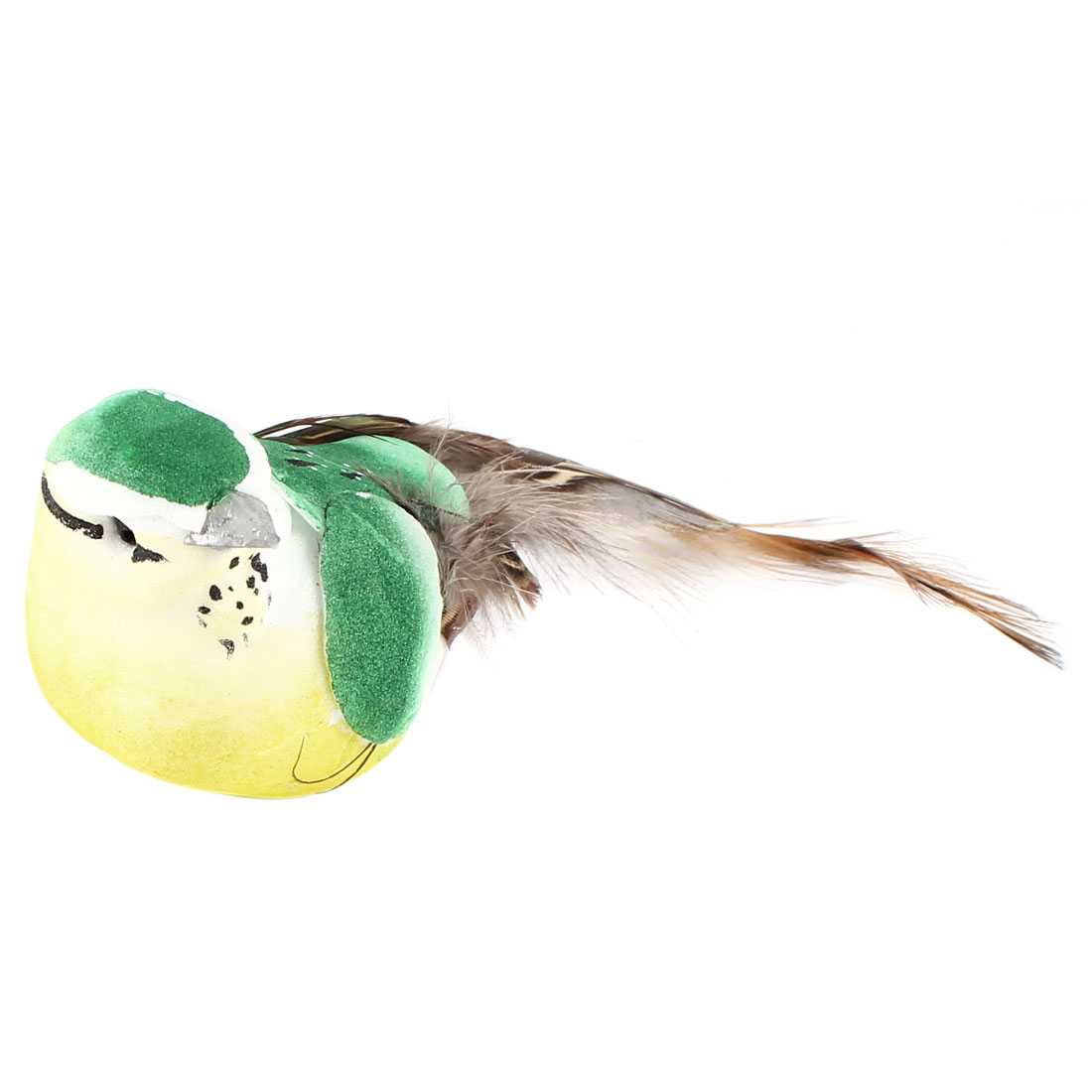 12cm Lenght Green Foam Magnetic Body Emulational Bird Ornament for Home