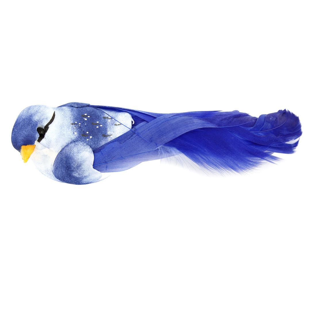 Blue Faux Feather Foam Magnetic Body Simulation Bird Christmas Ornament
