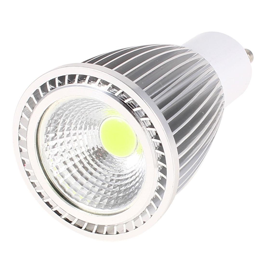 AC 85-265V GU10 Socket 7W White LED Light Energy Saving COB Spotlight Bulb