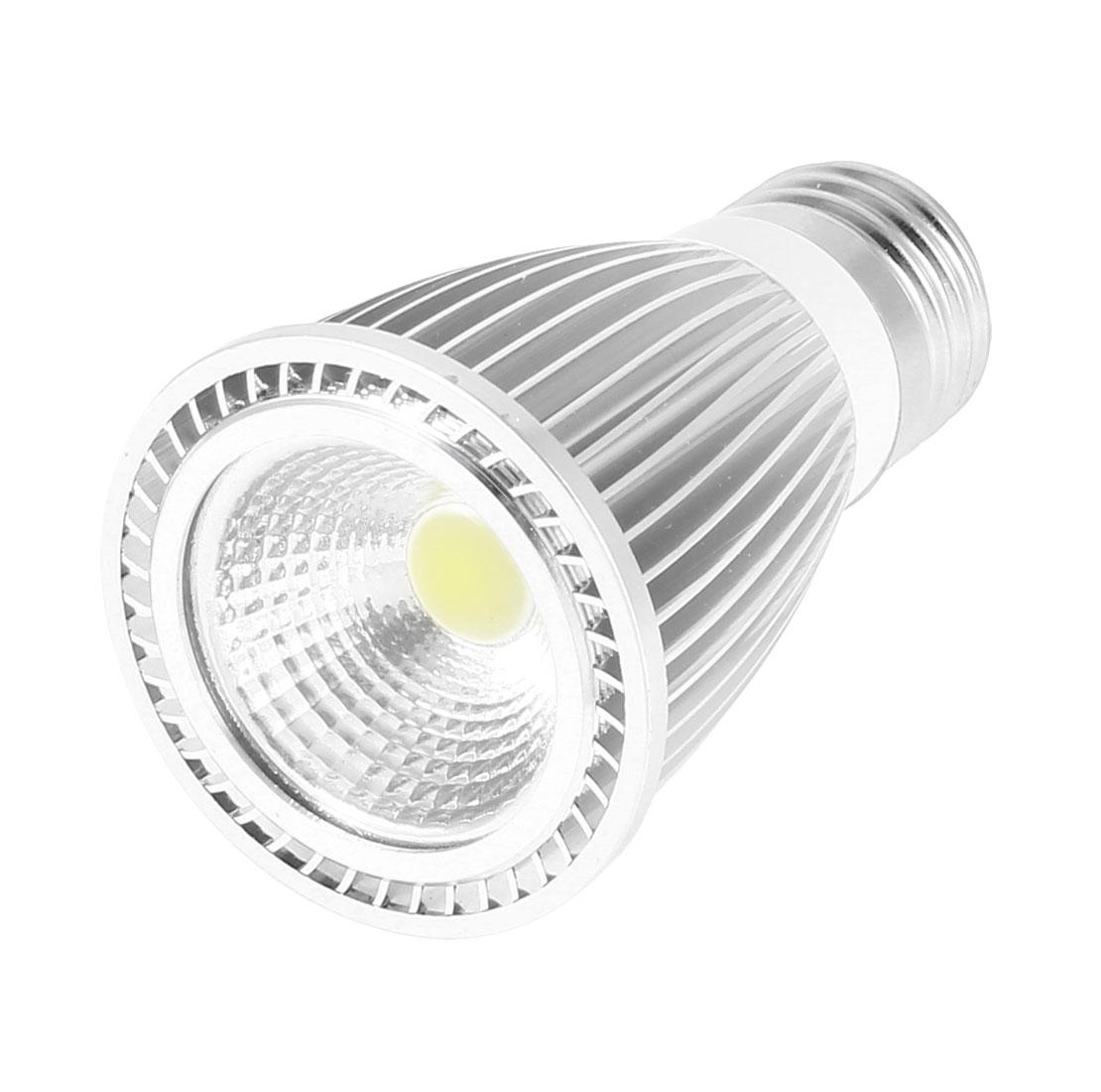 AC 85-265V E27 Base 7Watt White LED Light Energy Saving Ceiling COB Spotlight Bulb