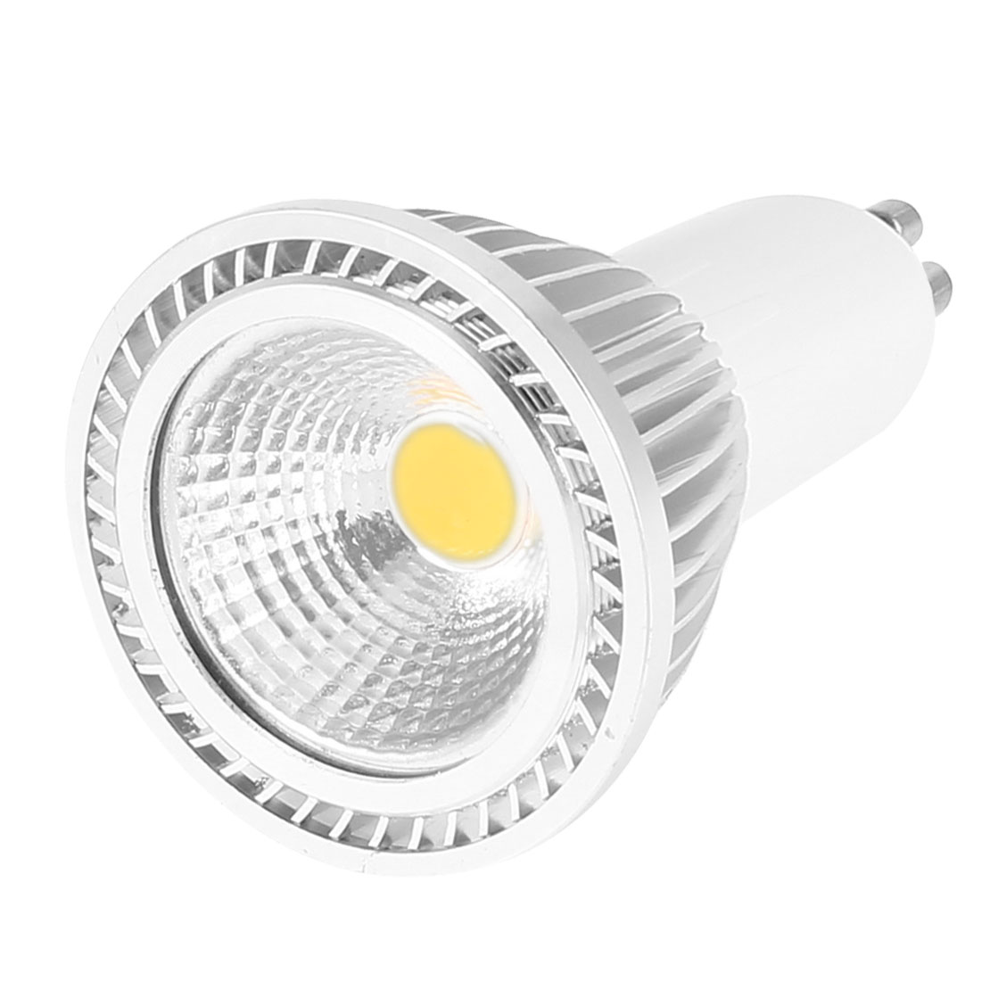 AC 85-265V GU10 Base 5W Power Warm White LED Light Ceiling COB Spotlight Lamp Bulb