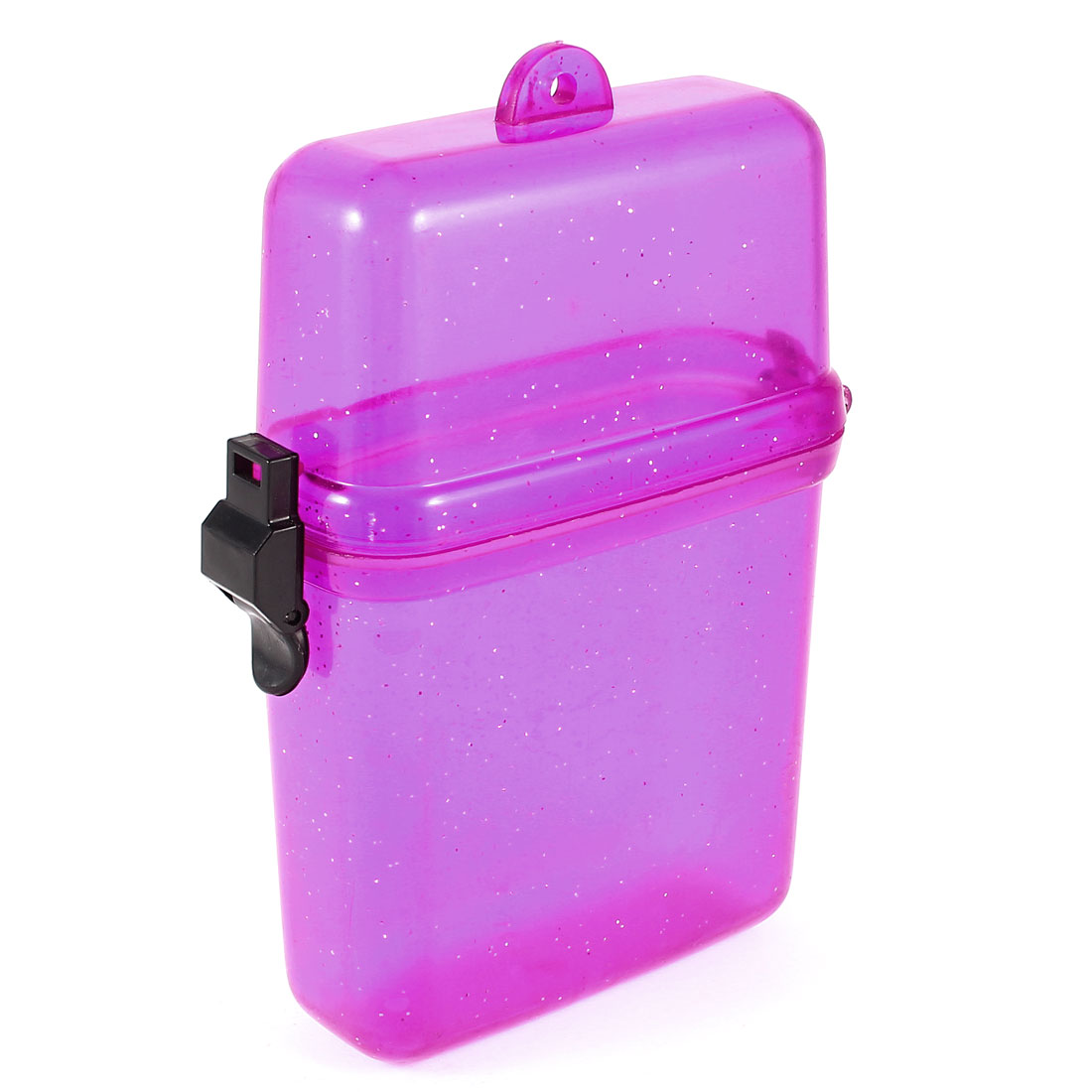 Plastic Waterproof Case Box Clear Purple for Mobile Phone Watches Jewelry